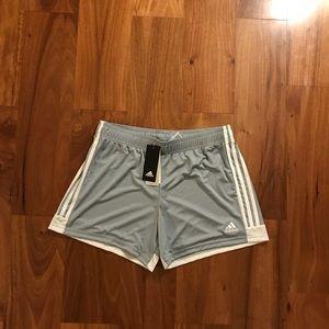 Woman's adidas shorts.